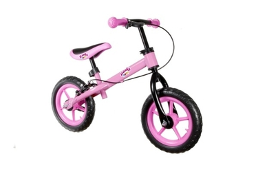 Hankskids safe różowy rowerek biegowy z hamulcem + prezent 3d