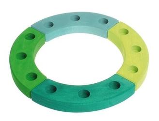 Drewniany pierścień urodzinowy, zielono-turkusowy, grimm's - zielono-turkusowy