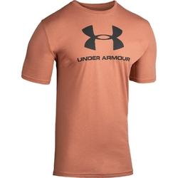Koszulka męska under armour sportstyle logo ss - brązowy