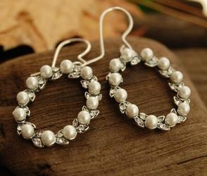 Pearl de lux - kolczyki perł kryształkami svarovskiego