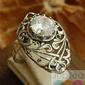 Arcona - srebrny pierścionek z kryształem swarovskiego