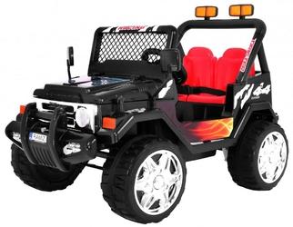 Jeep raptor czarny auto na akumulator dwuosobowy + pilot