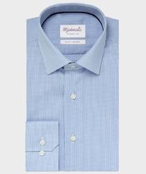 Elegancka koszula michaelis w drobną kratę z kołnierzem klasycznym 37