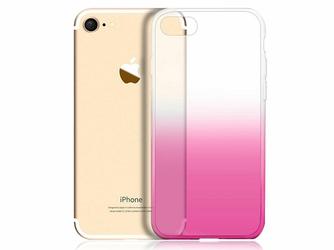 Etui Alogy ombre case Apple iPhone 7  8 Różowe + Szkło - Różowy