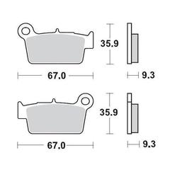 Klocki hamulcowe kh367 nitro racing metaliczne: 22 yamaha yzwr 03, kawa kxf250450 04 moto-master m094522