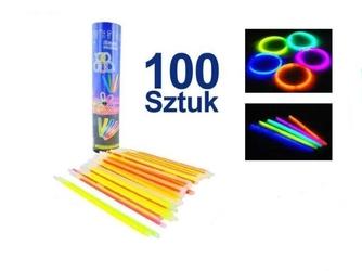 Świecące bransoletki światło chemiczne 100szt