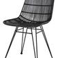 Hk living :: krzesło rattanowe czarne