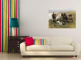 odpoczynek jeźdźców kaukaskich - alfred wierusz-kowalski ; obraz - reprodukcja