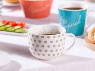 Duża filiżanka do kawy i herbaty porcelanowa jumbo altom design melania taupe 470 ml