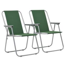 Vidaxl składane krzesła turystyczne, 2 szt., 52 x 59 x 80 cm, zielone