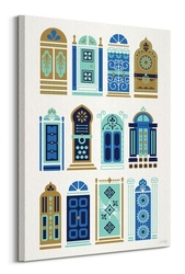 Moroccan doors - obraz na płótnie