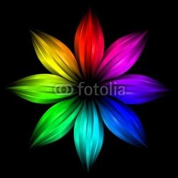 Obraz na płótnie canvas dwuczęściowy dyptyk streszczenie futurystyczny kwiat tęczy