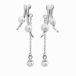Fantazyjne długie kolczyki z perłami