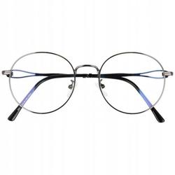 Okulary lenonki filtr światła niebieskiego blue light do komputera zerówki 2541-6