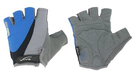 Rękawiczki rowerowe vivo sb-01-8505-a niebiesko-czarne