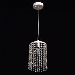 Srebrna, kryształowa lampa wisząca breeze mw-light crystal 464016801