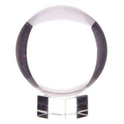 Szklana kula o średn. 15 cm, z podstawką
