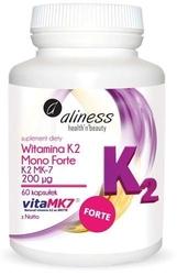 Aliness witamina k2 mono forte k2 mk-7 200µg x 60 kapsułek