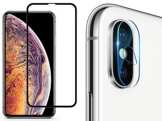 Baseus szkło hartowane 3d +szkło camera lens na obiektyw iphone xs max