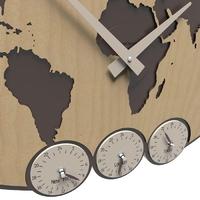 Zegar ścienny greenwich calleadesign jasny orzech włoski 12-002-91
