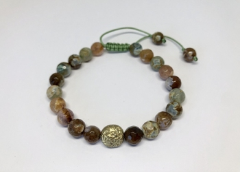 Bransoletka colorful agate xl