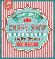 Obraz candy shop - ilustracji wektorowych