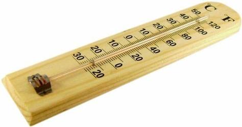 Termometr wewnętrzny naścienny drewniany