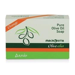 Macrovita olive-elia mydło z czystej oliwy z oliwek pomarańcza 100g - pomarańcza