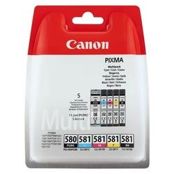 Canon oryginalny ink pgi-580pgbkcli-581cmybk multi pack, cmyk+pgbk, 111.2 + 45.6ml, 2078c005, canon pixma tr7550, tr8550, ts6