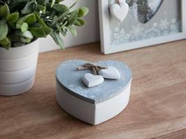 Pudełko do przechowywania, na biżuterię, drobiazgi  puzderko drewniane  szkatułka altom design home, serce