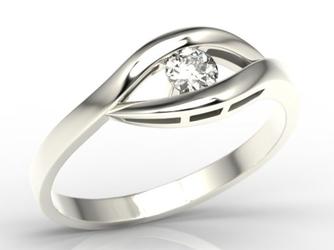 Pierścionek zaręczynowy z białego złota z diamentem lp-9920b