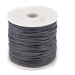 Woskowany sznurek bawełniany 1mm20m - szary - sza