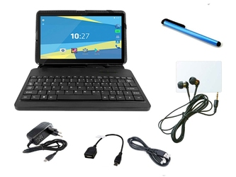Tablet overmax qualcore 1027 modem 4g gps + klawiatura+ słuchawki + rysik