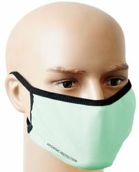 Seledynowa maseczka na twarz - maska ochronna wielorazowa ms-s2w