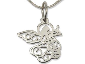 Wisiorek z białego złota aniołek wec-b-wis-aniołek-40
