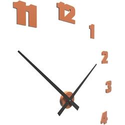 Zegar ścienny raffaello duży calleadesign terakota 10-309-24