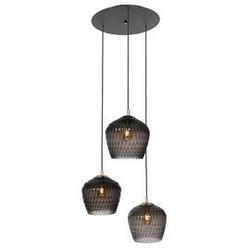 Kaspa :: lampa wisząca venus 3 klosze grafitowo-czarna