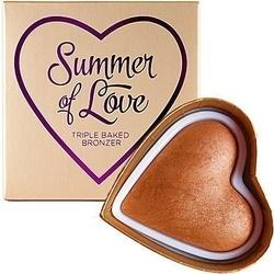 Makeup revolution i heart makeup love hot summer heart, summer of love bronzer 10g