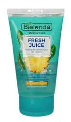 Bielenda fresh juice peeling enzymatyczny rozświetlający z wodą cytrusową ananas 150g