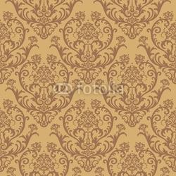 Obraz na płótnie canvas bez szwu brązowy kwiatowy tapety