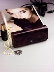 Pojemny portfel damski brązowy px27-2 - brązowy