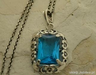 Izmir - srebrny wisior z akwamarynem