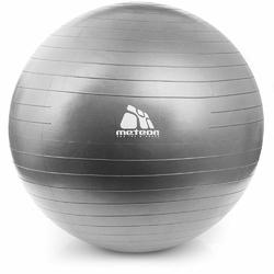 Piłka fitness Meteor srebrna 85 cm + pompka - 31182 - 31182