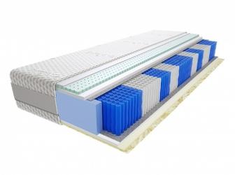Materac kieszeniowy Jaśmin Multipocket 100x150 cm Średnio twardy 2x Lateks Visco Memory