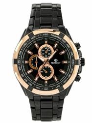 Męski zegarek PERFECT - MILTON - blackgold zp112b
