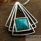 Grata - srebrny wisiorek z turkusem