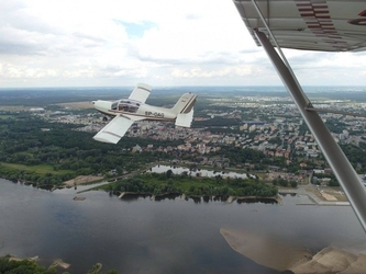 Lot widokowy samolotem - toruń - 7 minut