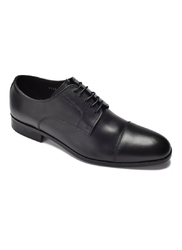 Eleganckie i luksusowe czarne skórzane buty męskie typu derby 41,5