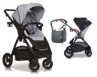 Easygo optimo air pearl wózek do 22 kg z obracanym siedziskiem na pompowanych kołach + torba dla mamy gratis