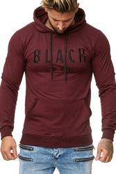 Bluza męska black icon - bordowy 52004-2